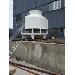 眉山圆形逆流式150t逆流冷却塔工程案例,订购单位:眉山水滴化学有限公司