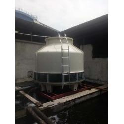 四川成都崇州冷却塔:GL-150T,GL-125T冷却塔安装现场,使用单位:四川中宇新材料科技有限公司