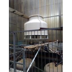 四川成都双流50T圆形冷却塔工程案例