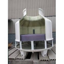 内江隆昌GL-150T冷却塔安装现场,50T,60T冷却塔填料更换维修现场